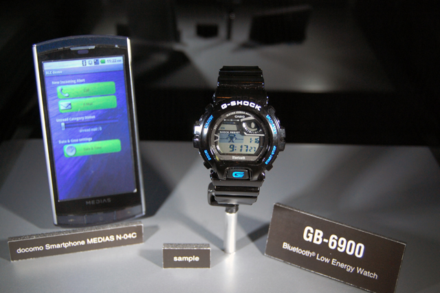 Casio's Bluetooth 4.0 G-Shock is water and shock-resistant, Solar powered and FCC-approved - #Bluetooth #lowenergy